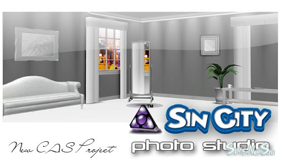 Sims New City Family Pack.®  CAS Sin City Photo Studio