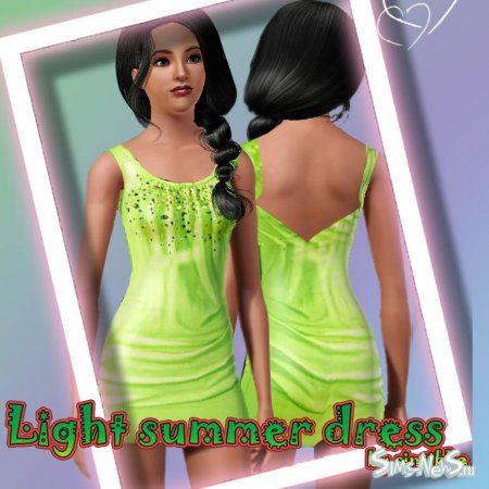 Light dress by me для Sims 3
