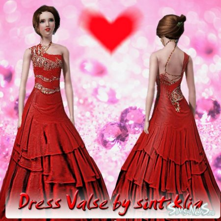 "Dress ""Valse""- ������ ��� Sims 3"