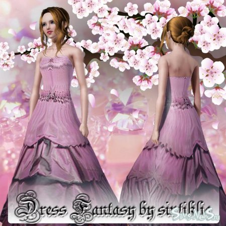 "Dress ""Fantasy"" - платье для Sims 3"