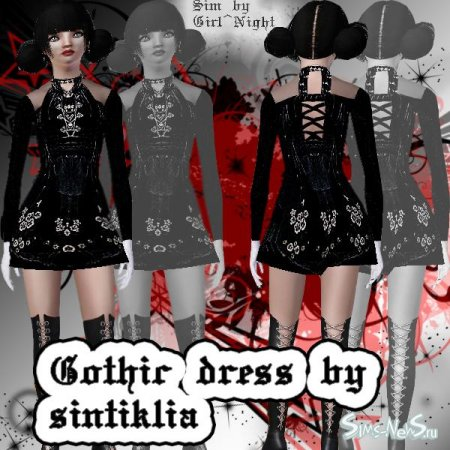 ������ ��� Sims 3 Gothic dress