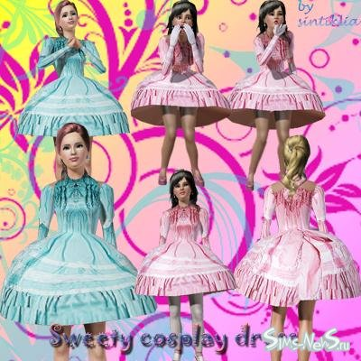 ������ ��� Sims 3 Cosplay dress