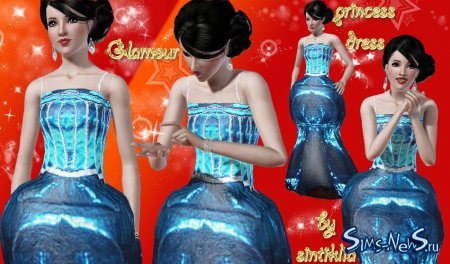 ������ Glamour princess dress Sims 3