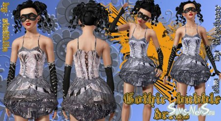 Платье Gothic bubble dress Sims 3