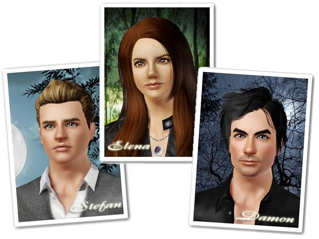 Симы для The Sims 3 - Персонажи The Vampire Diaries.