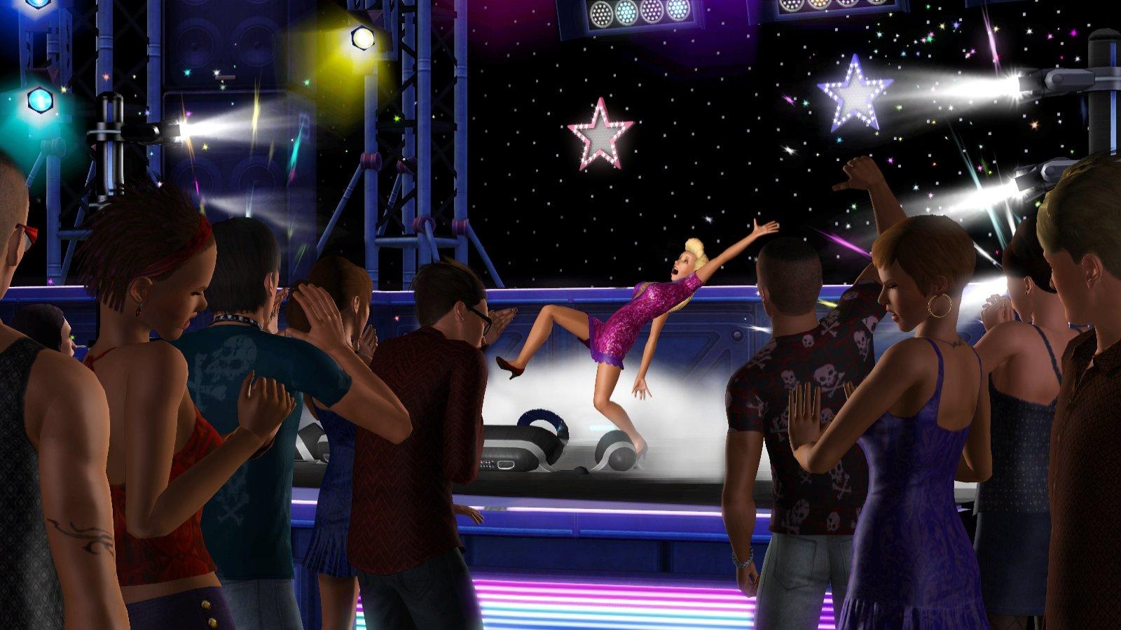 В дополнении the sims 3 шоу бизнес