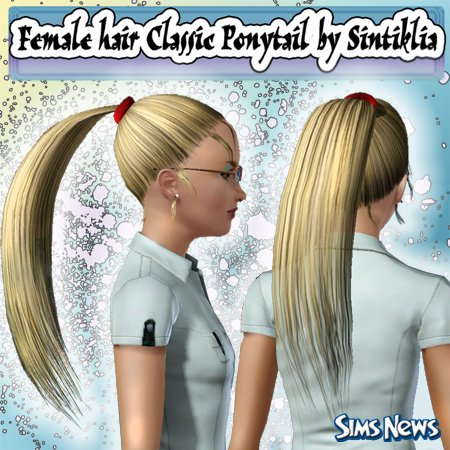 ������� �������� Classic Ponytail ��� Sims 3
