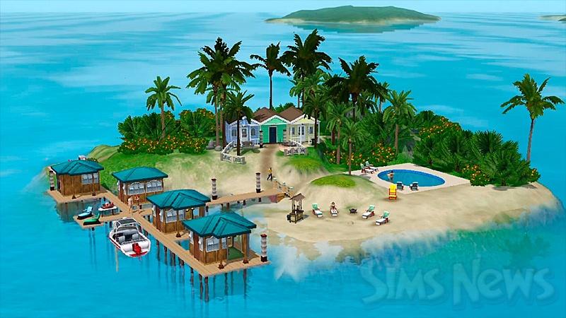 Симс 3 картинки райские острова.