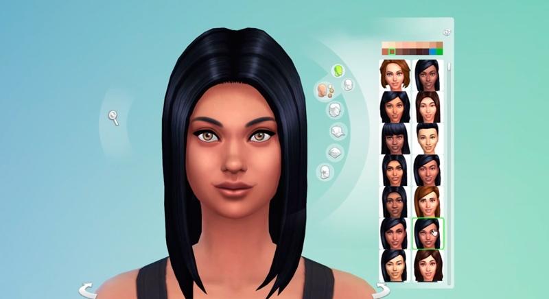 Как создать свое лицо в sims 4