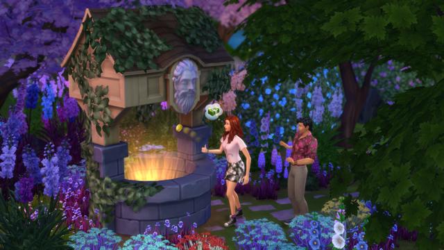 Скачать дополнение для симс 4 романтический сад.