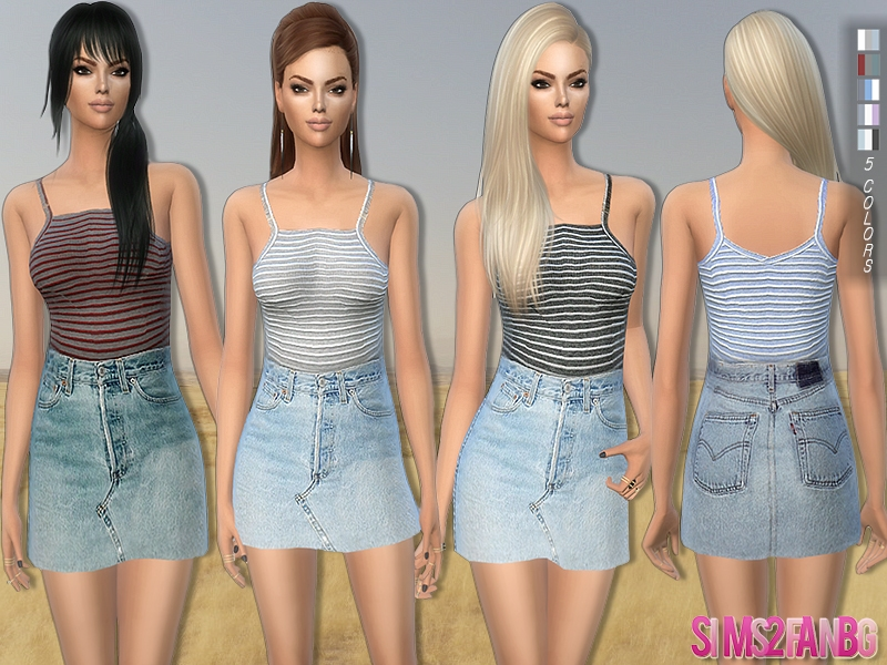6ad14436371 Женская одежда для Симс 4 - Скачать бесплатно одежду для симок к ...