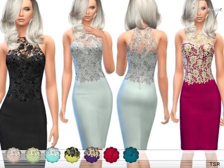 Lace Bodice Bodycon Dress. ������ � ��������� ����� ��� �����