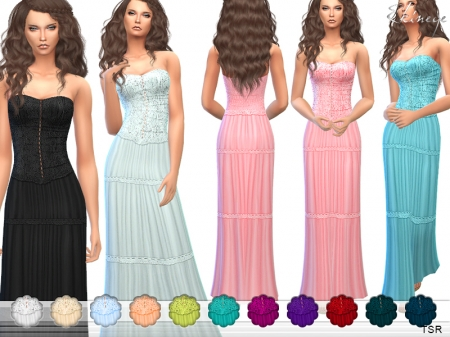 Strapless Maxi Dress. ������� ������ � �������� ��� �����