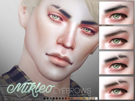 Mikleo Eyebrow Duo. Сет бровей для симов