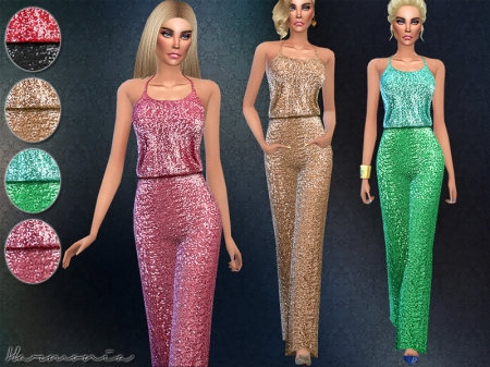 Wide-leg Pants Sequined Jumpsuit. ���������� ���������� ��� �����