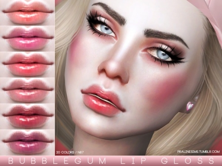 Bubblegum Lip Gloss N87. Помада для симок