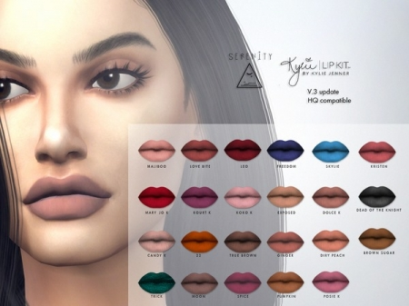 Kylie Cosmetic Matte Lipsticks updated (v.3) all colors. Помада для симок
