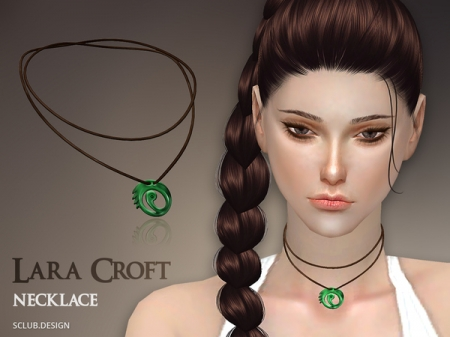 S-Club TS4 MK Lara Croft Necklace. Медальон для симок