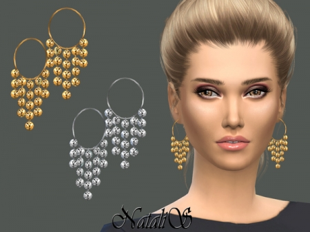 NataliS_Ethnic Hammered Earrings. Серьги для симок
