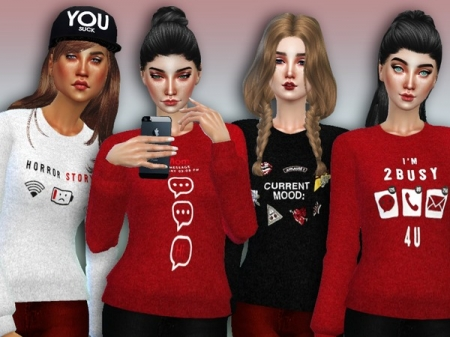 '2 Busy 4 U' Sweaters - Spa Day GP needed. Свитер для симок