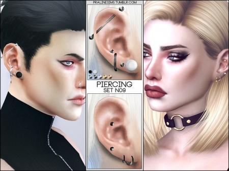 Piercing Set N09. Ушной пирсинг для симов и симок