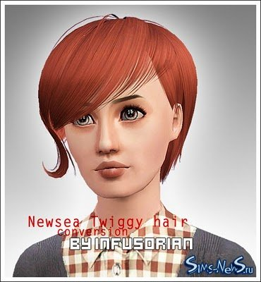 Newsea Twiggy hair conversion от Infusorian