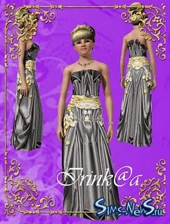 Dress with flowers by Irink@a