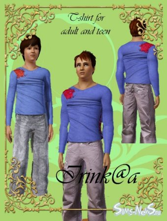Men and teen shirt long