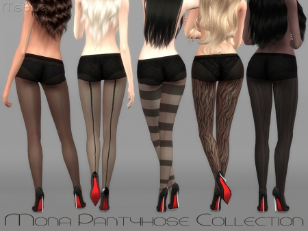 Mona Pantyhose Collection. Коллекция колготок для симок