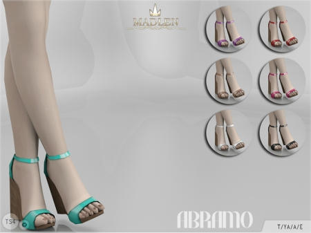 Madlen Abramo Shoes. Босоножки на танкетке для симок