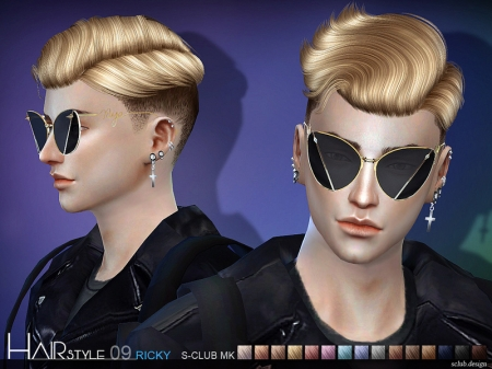 S-Club TS4 Hair N9. Причёска для симов