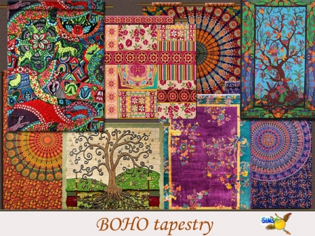evi Boho Tapestry set. Гобелены для дома