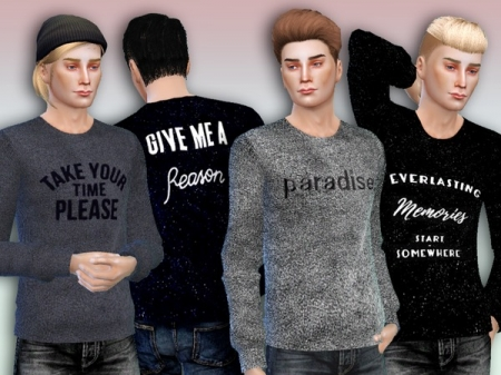 'Paradise' Sweaters For Men - Spa Day GP needed. Свитер для симов