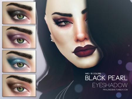 Black Pearl Eyeshadow N40. Тени для век для симок