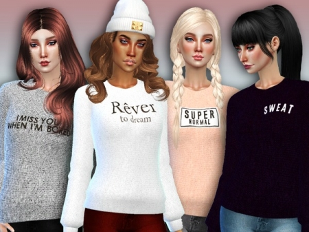 'Rever' Sweaters - Spa Day GP needed. Свитера для симок