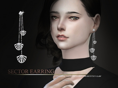 S-Club WM thesims4 sector earring. Серьги для симок