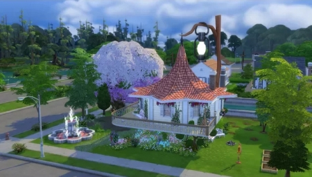 The Sims 4 Дом феи/The Sims 4 House fairies. Видео